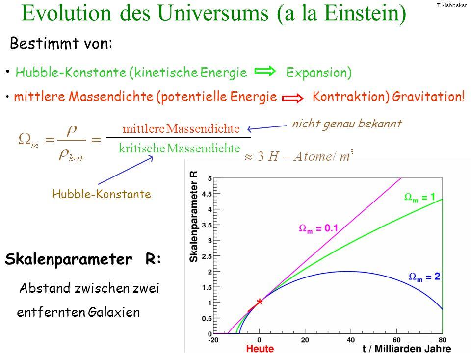 Evolution des Universums (a la Einstein)