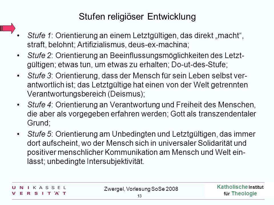 Stufen religiöser Entwicklung