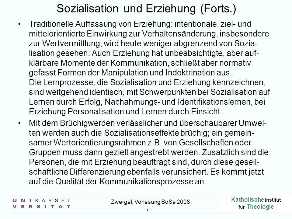 Sozialisation und Erziehung (Forts.)
