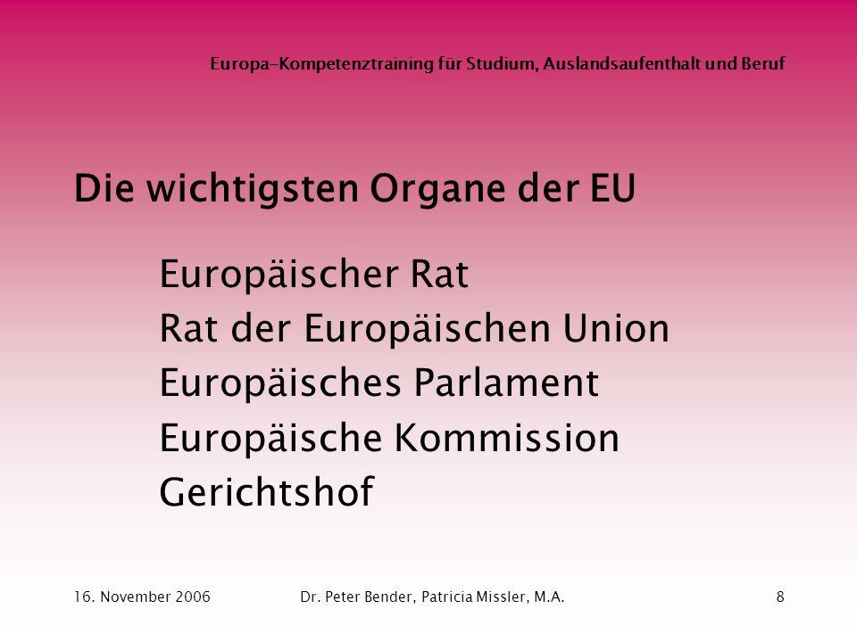 Europa-Kompetenztraining für Studium, Auslandsaufenthalt und Beruf