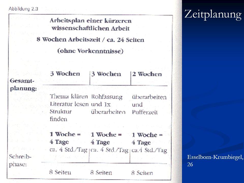 Zeitplanung Esselborn-Krumbiegel, 26