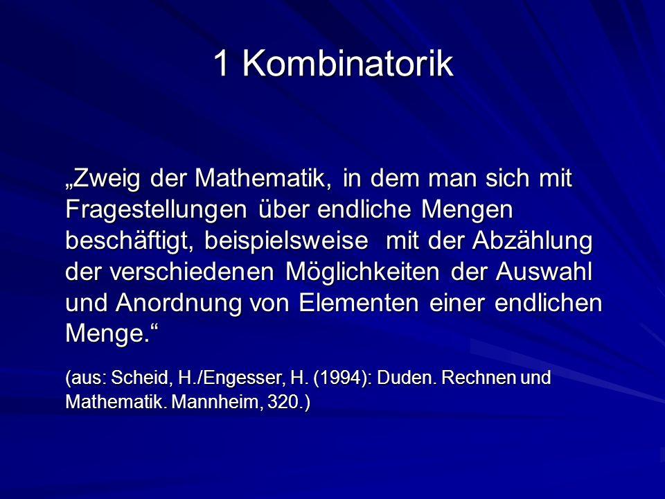 1 Kombinatorik