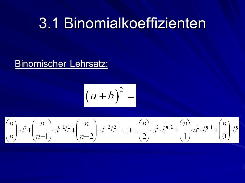 3.1 Binomialkoeffizienten