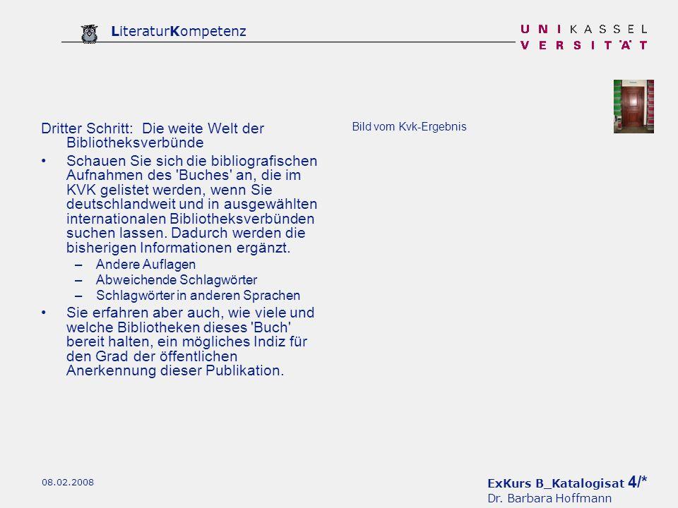 Dritter Schritt: Die weite Welt der Bibliotheksverbünde