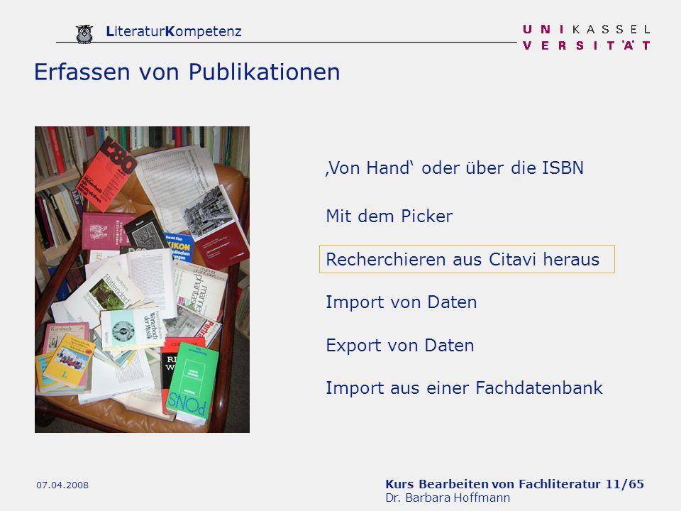 Erfassen von Publikationen