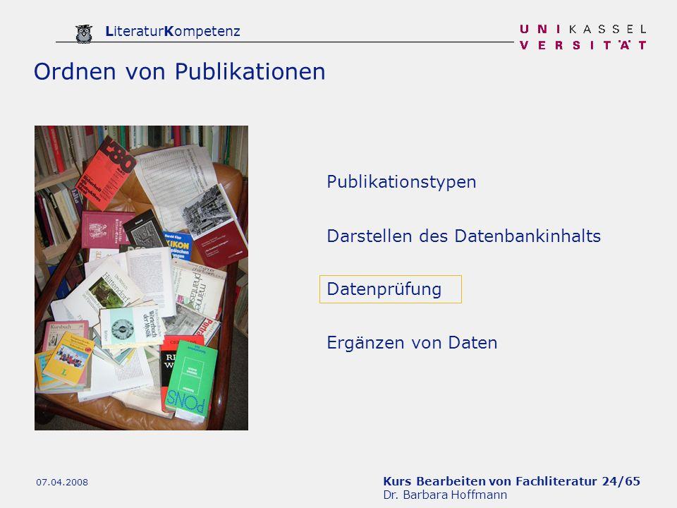 Ordnen von Publikationen