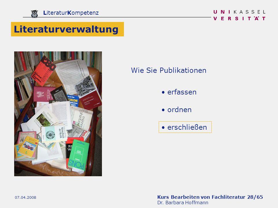 Literaturverwaltung Wie Sie Publikationen erfassen ordnen erschließen