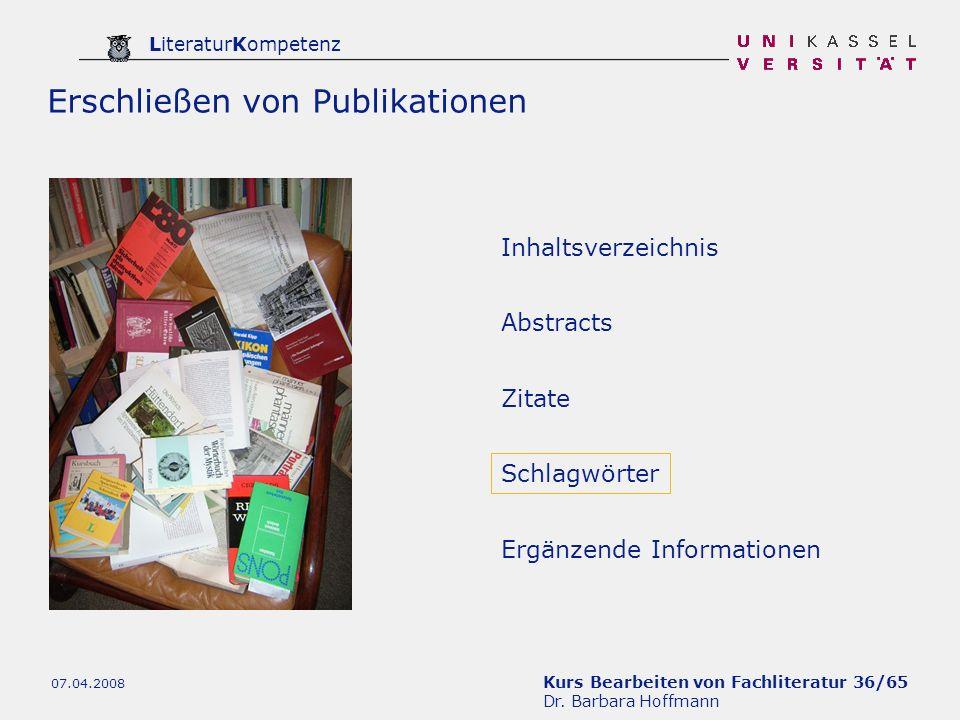 Erschließen von Publikationen