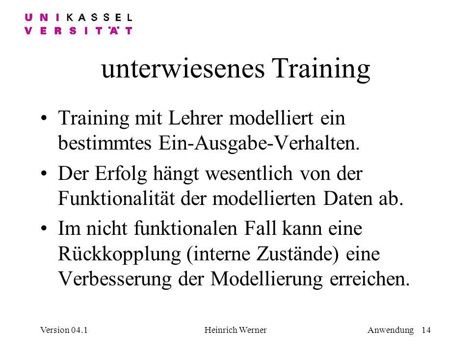 unterwiesenes Training