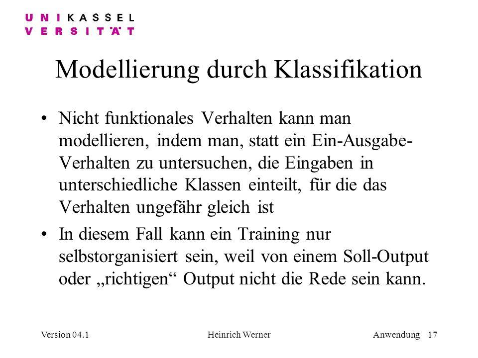 Modellierung durch Klassifikation