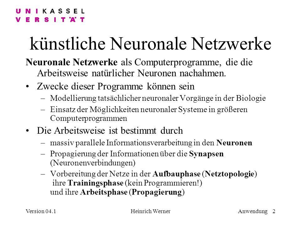 künstliche Neuronale Netzwerke