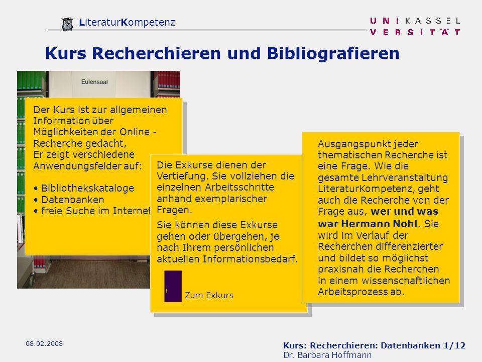 Kurs Recherchieren und Bibliografieren
