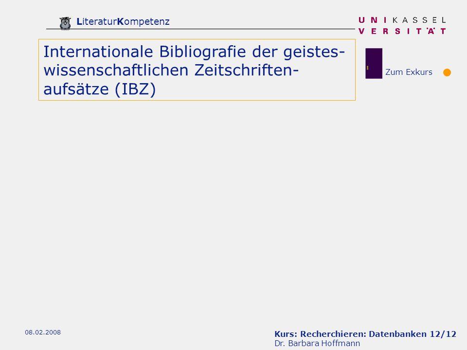 Internationale Bibliografie der geistes-wissenschaftlichen Zeitschriften-aufsätze (IBZ)