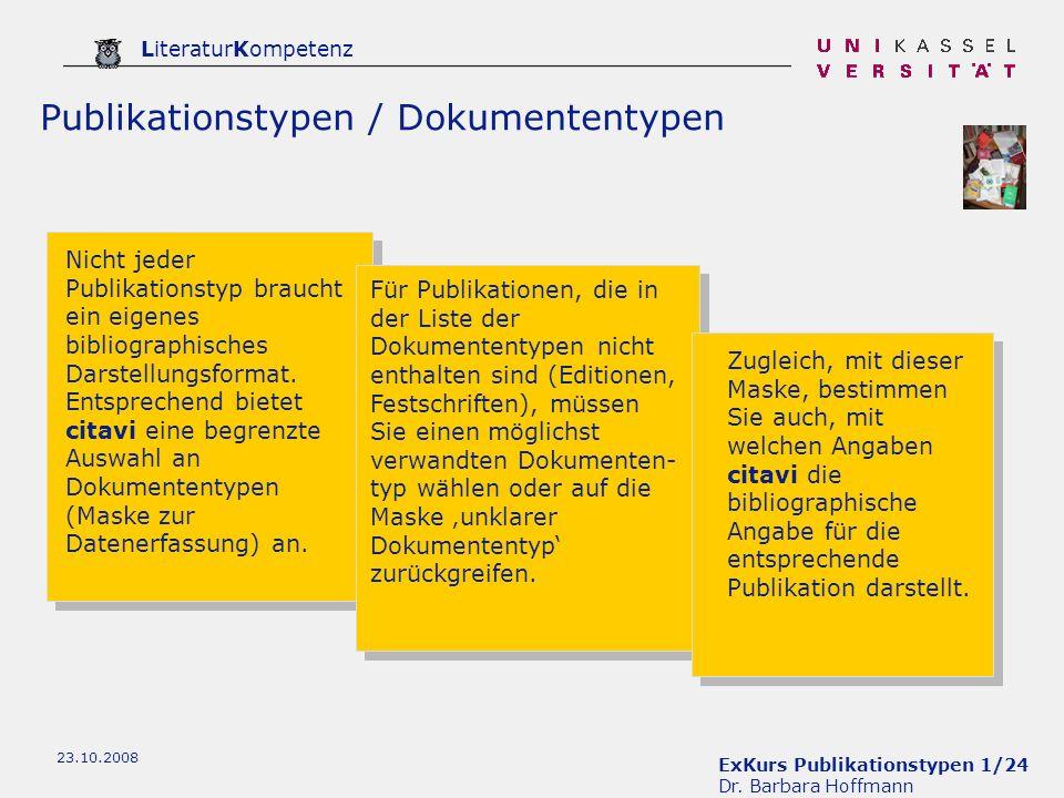 Publikationstypen / Dokumententypen
