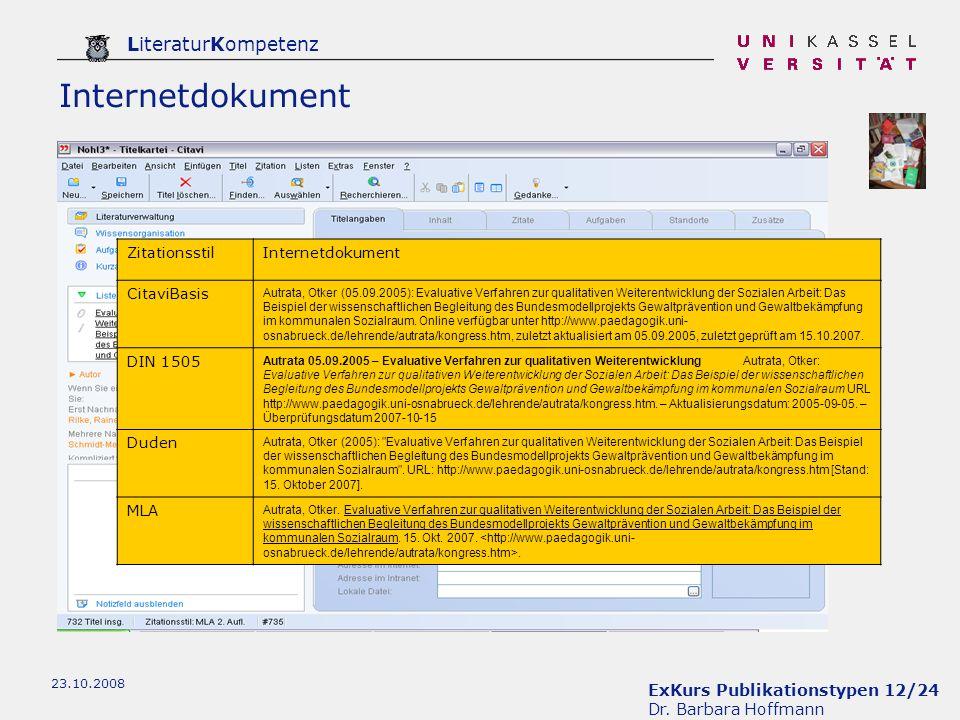 Internetdokument Zitationsstil Internetdokument CitaviBasis DIN 1505