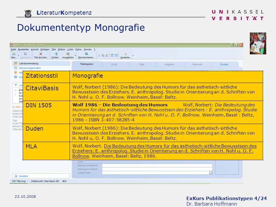 Dokumententyp Monografie