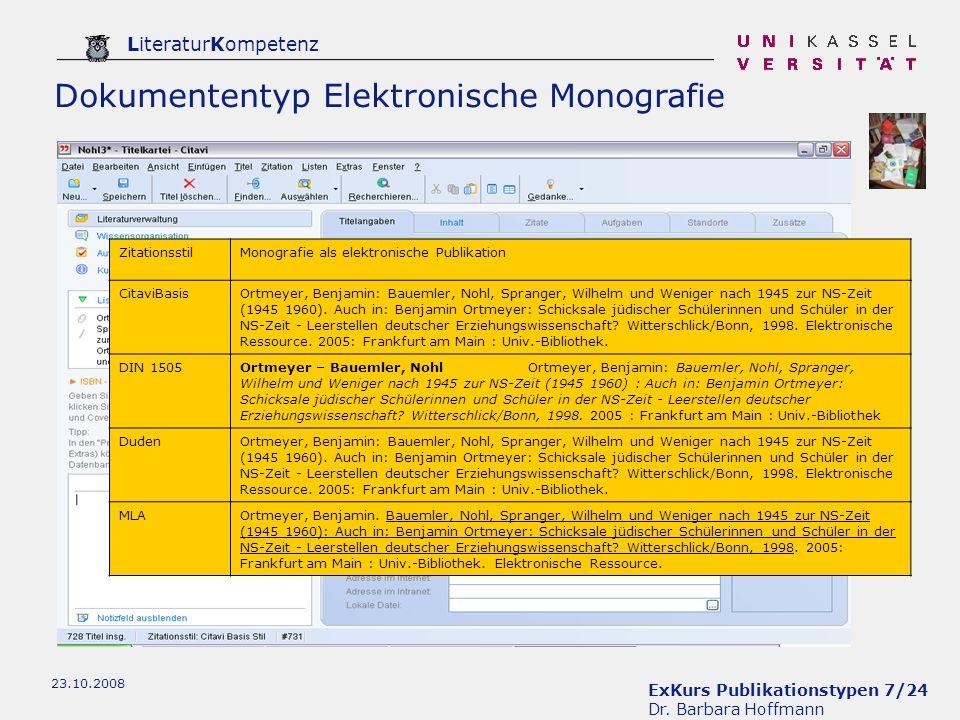 Dokumententyp Elektronische Monografie