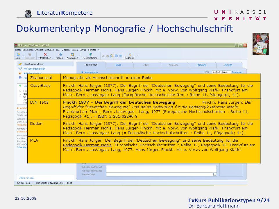 Dokumententyp Monografie / Hochschulschrift