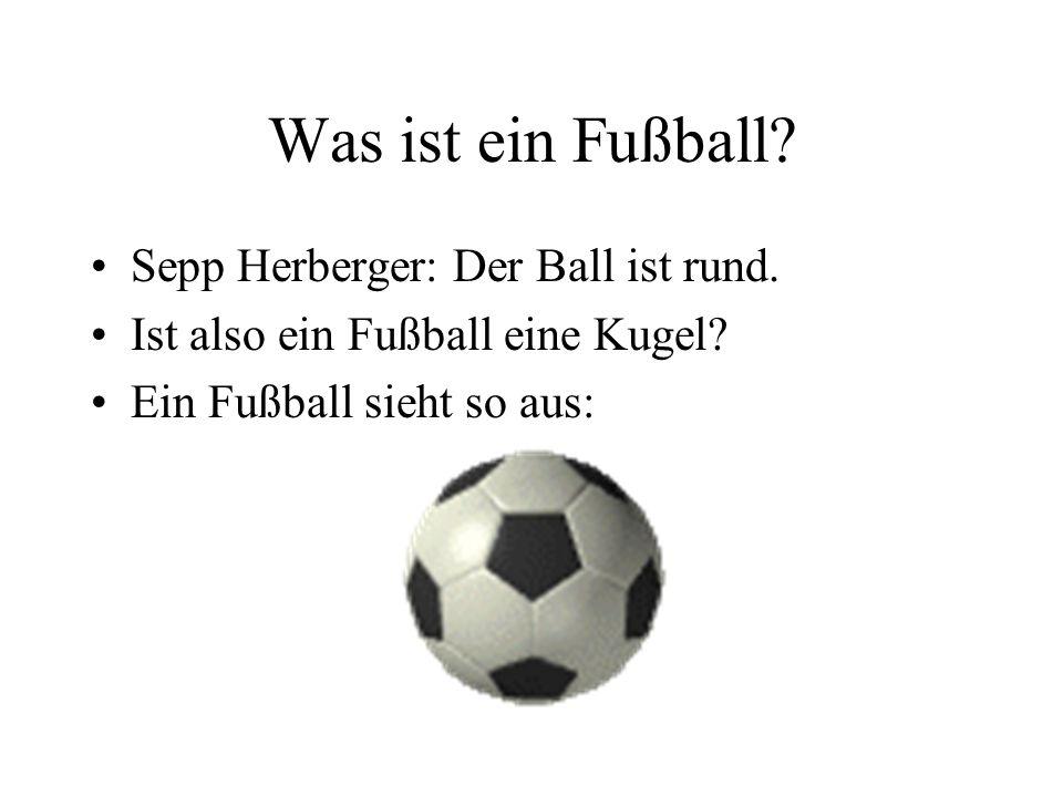 Was ist ein Fußball Sepp Herberger: Der Ball ist rund.