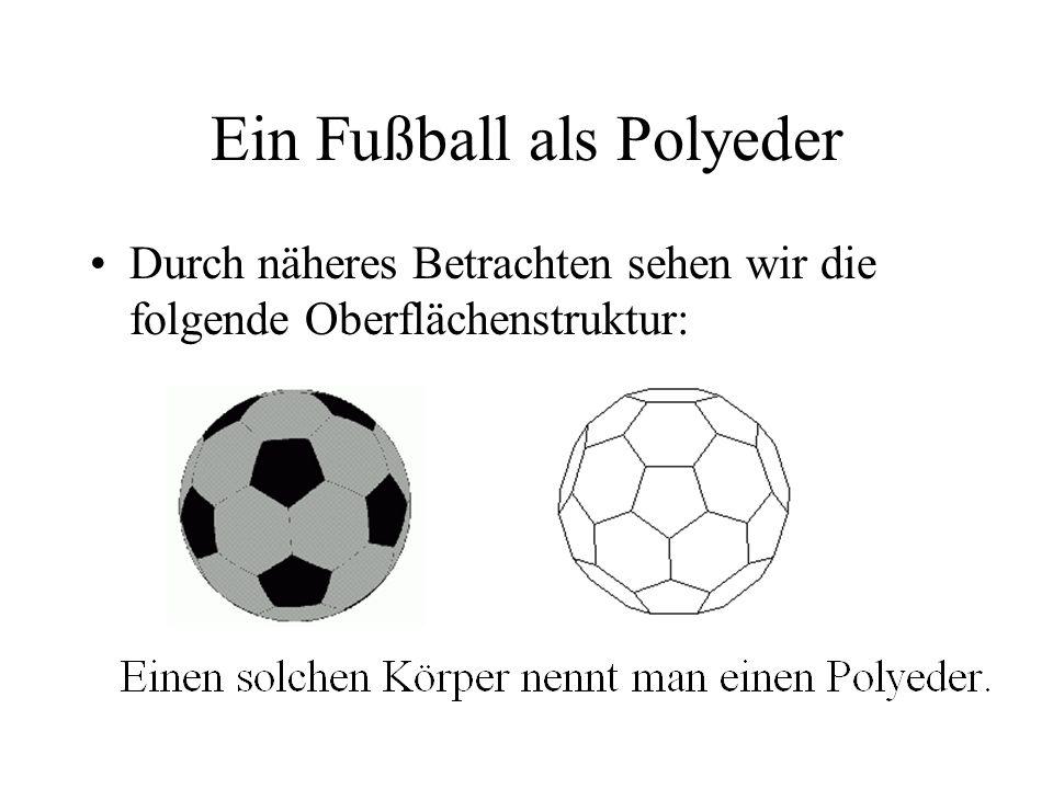 Ein Fußball als Polyeder