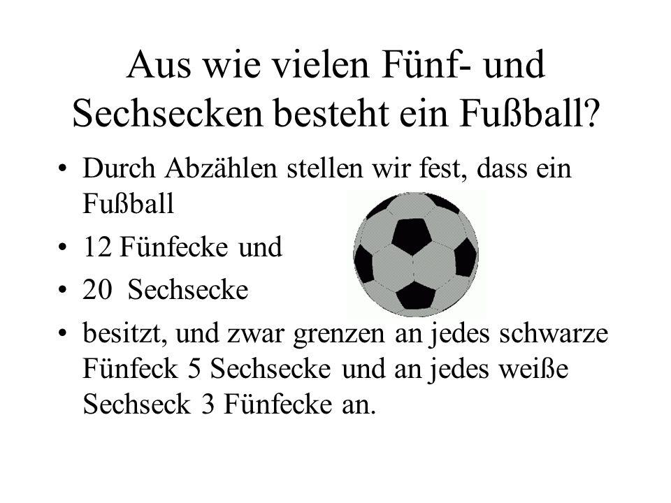 Aus wie vielen Fünf- und Sechsecken besteht ein Fußball