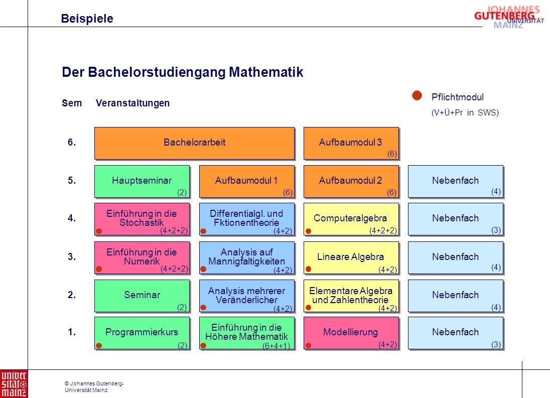 Der Bachelorstudiengang Mathematik