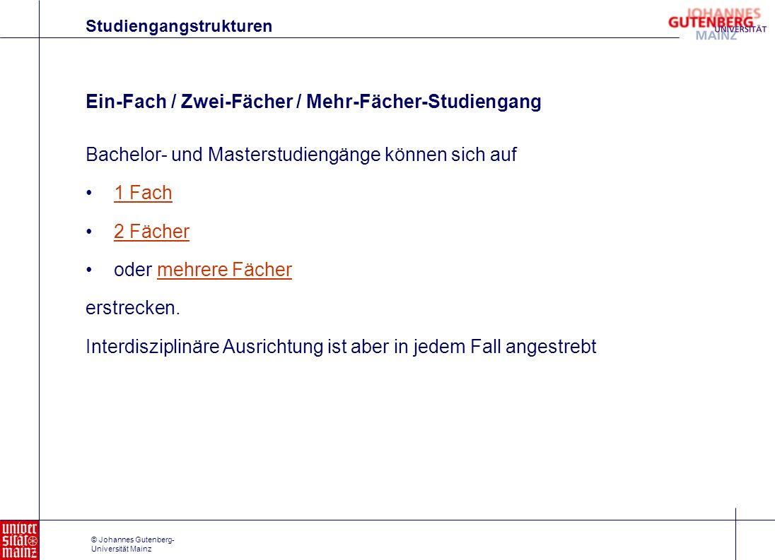 Ein-Fach / Zwei-Fächer / Mehr-Fächer-Studiengang