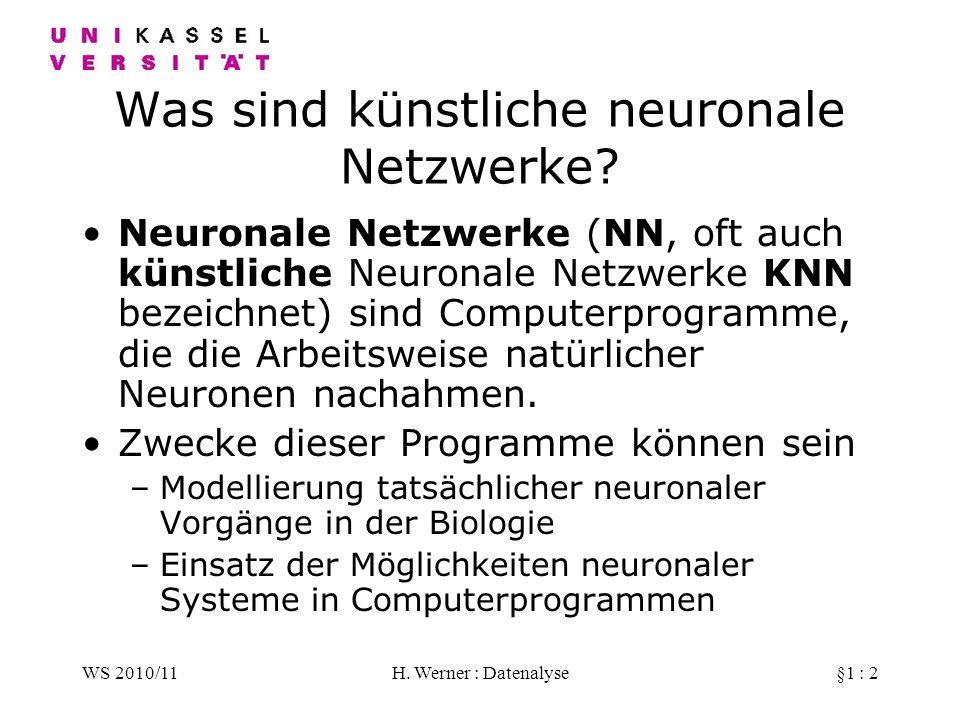 Was sind künstliche neuronale Netzwerke