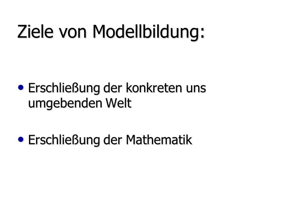 Ziele von Modellbildung: