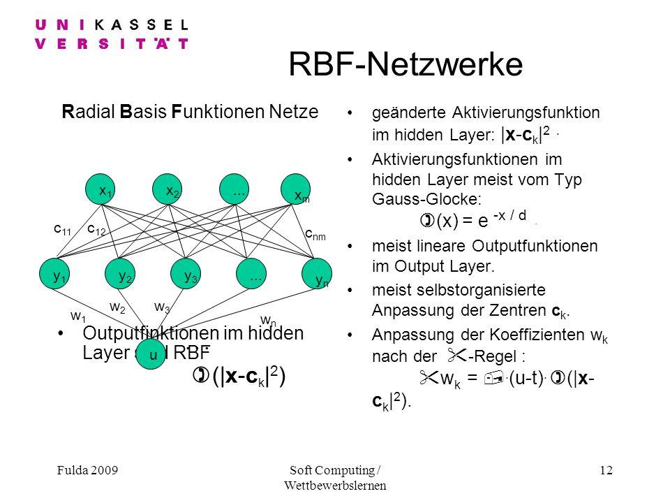 RBF-Netzwerke Radial Basis Funktionen Netze