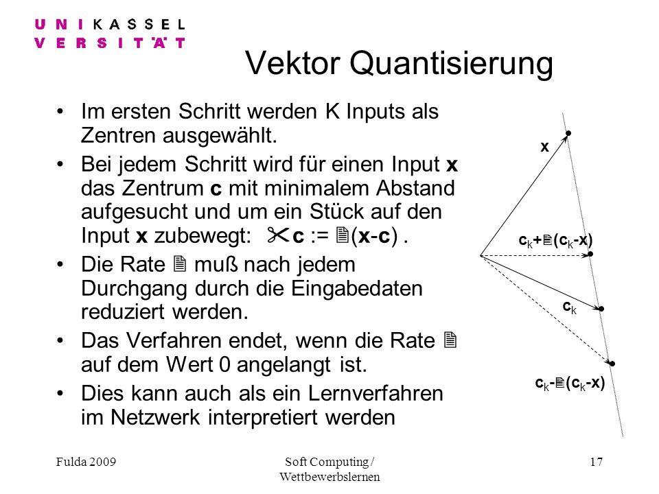 Soft Computing / Wettbewerbslernen