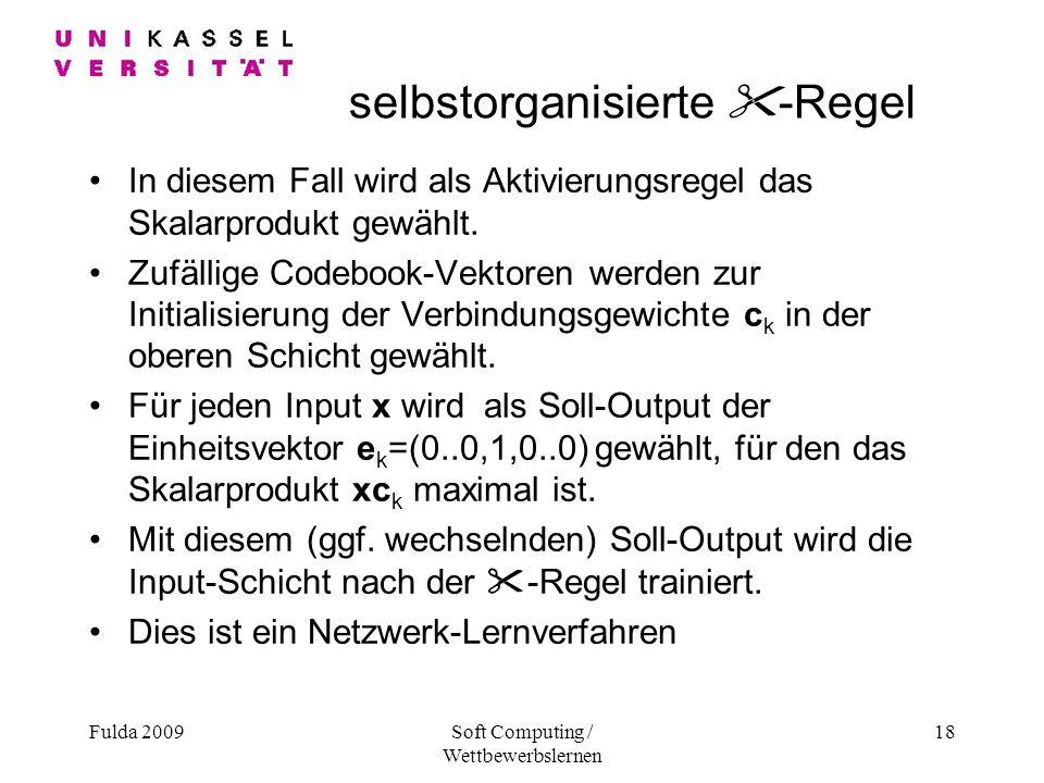 selbstorganisierte -Regel