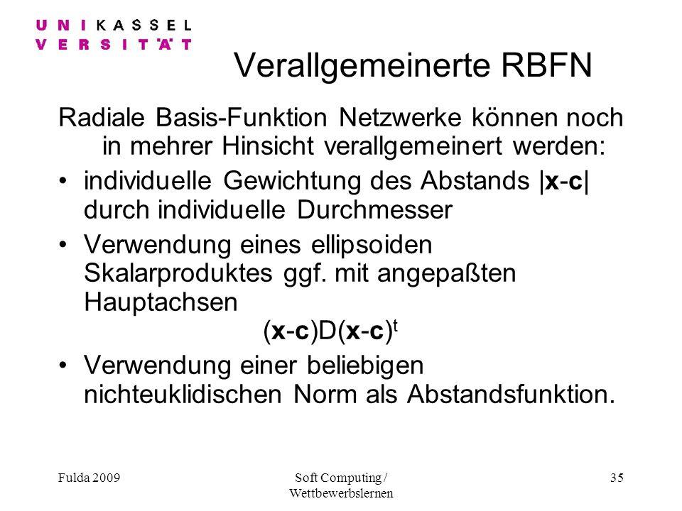 Verallgemeinerte RBFN