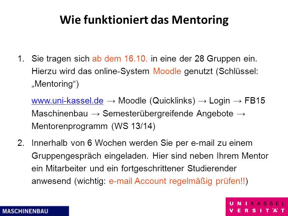 Wie funktioniert das Mentoring