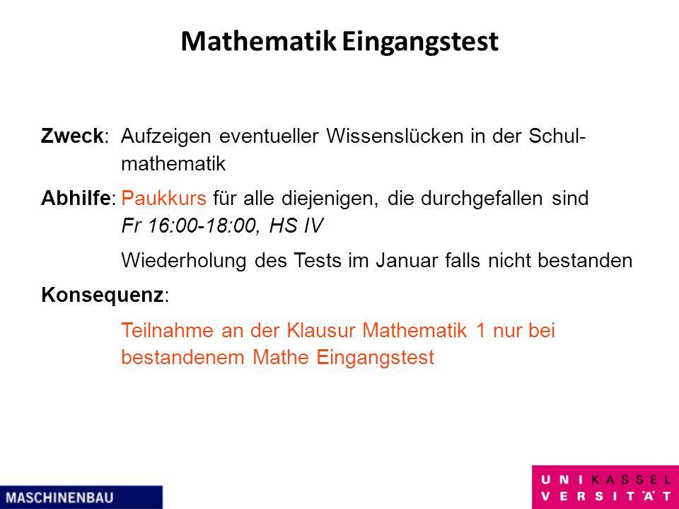 Mathematik Eingangstest