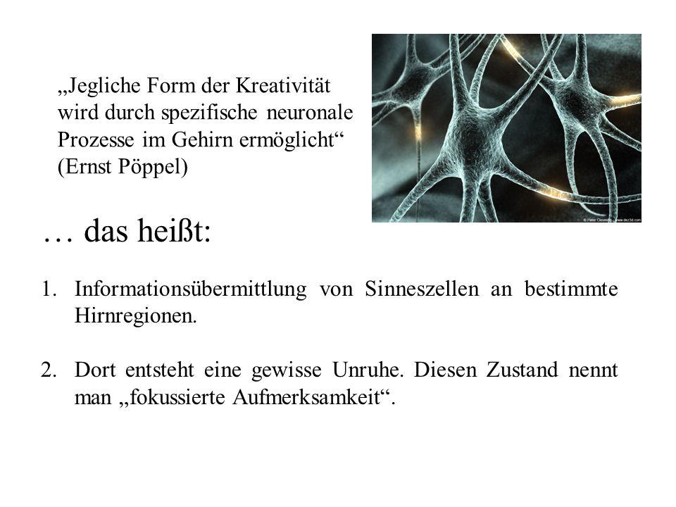 """""""Jegliche Form der Kreativität wird durch spezifische neuronale Prozesse im Gehirn ermöglicht (Ernst Pöppel)"""