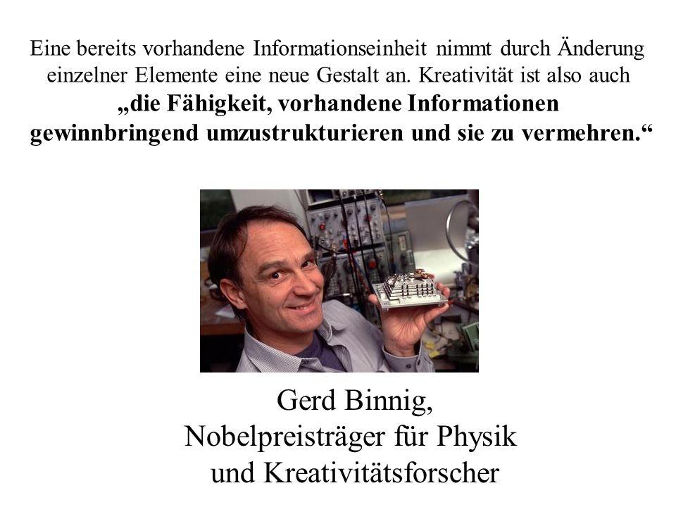 Nobelpreisträger für Physik und Kreativitätsforscher