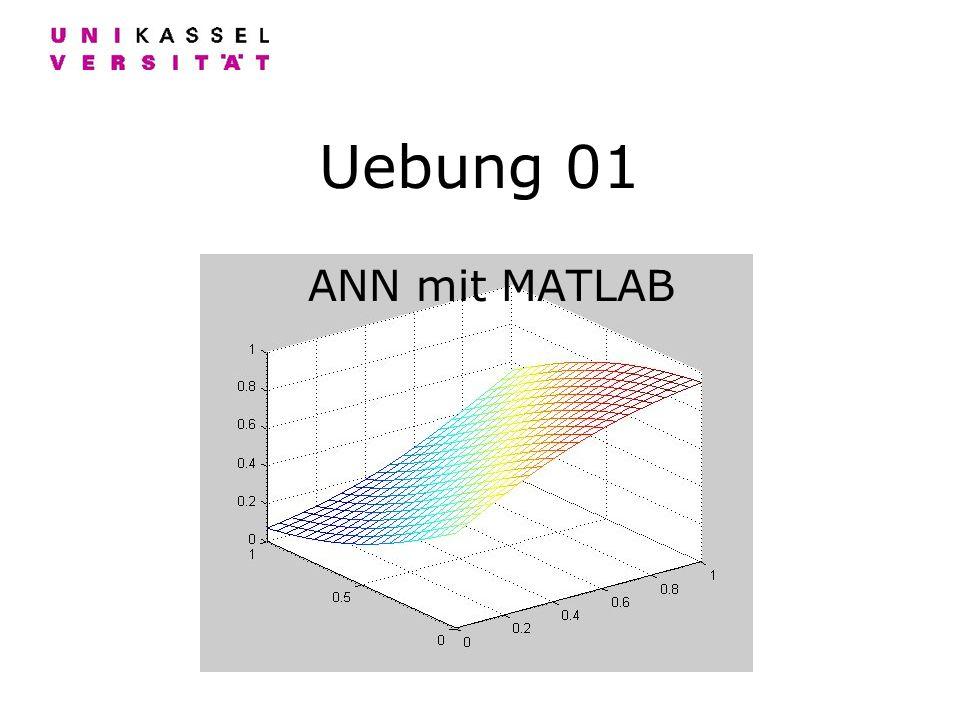 Uebung 01 ANN mit MATLAB