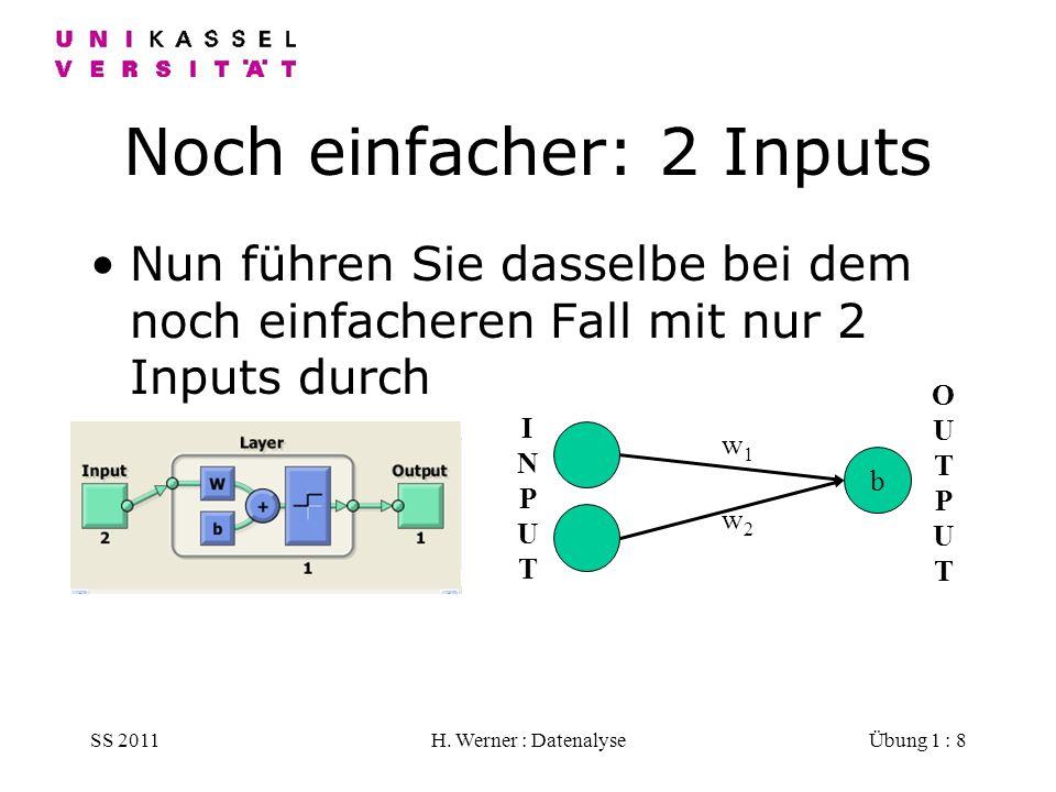 Noch einfacher: 2 Inputs