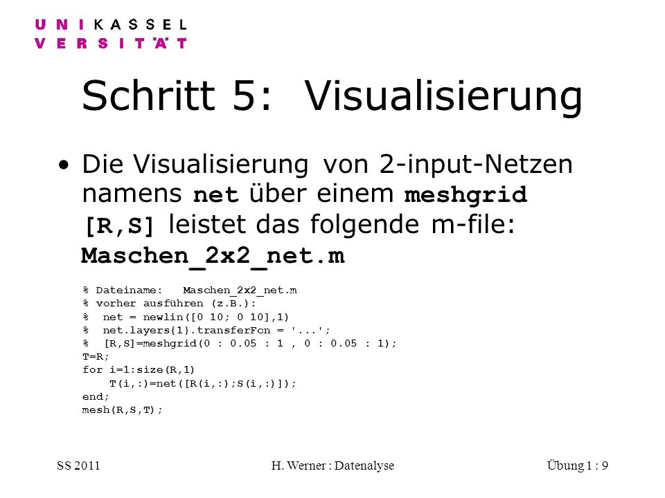 Schritt 5: Visualisierung