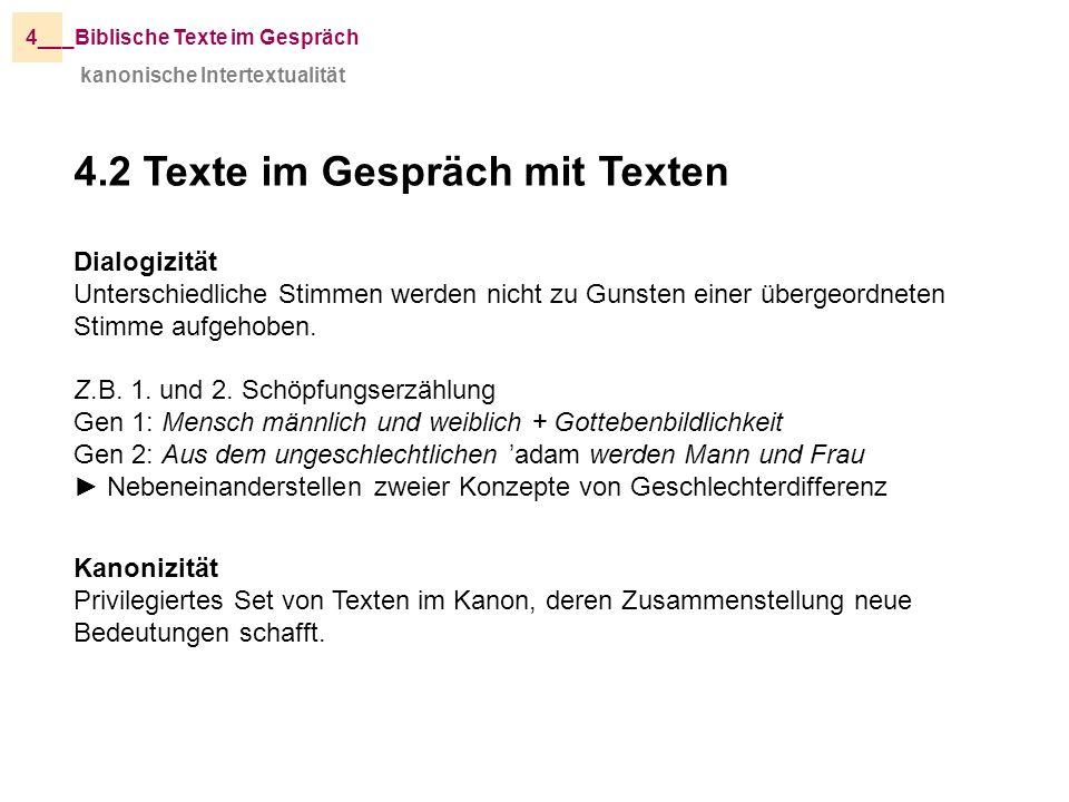 4.2 Texte im Gespräch mit Texten