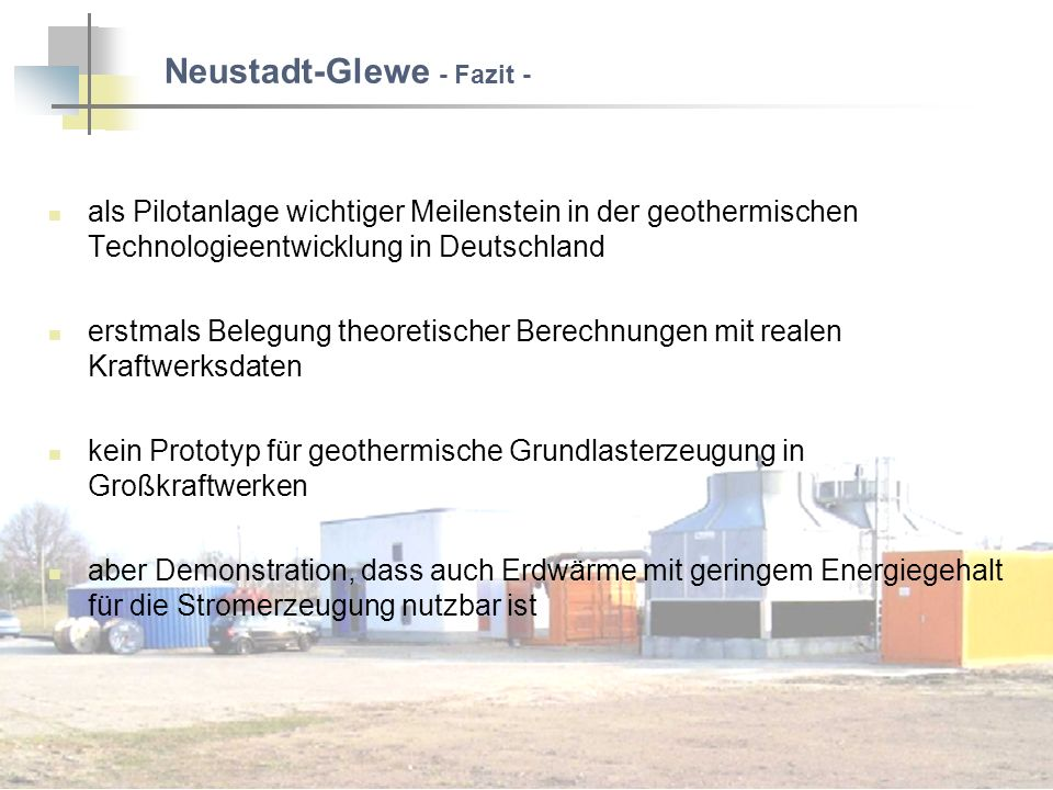 Neustadt-Glewe - Fazit -