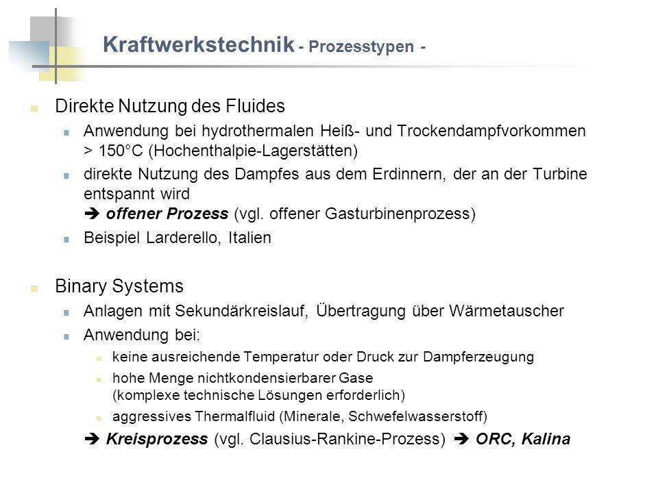 Kraftwerkstechnik - Prozesstypen -