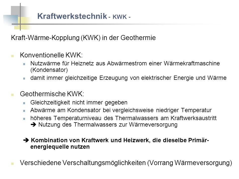 Kraftwerkstechnik - KWK -