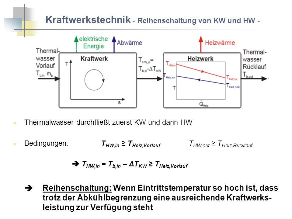 Kraftwerkstechnik - Reihenschaltung von KW und HW -