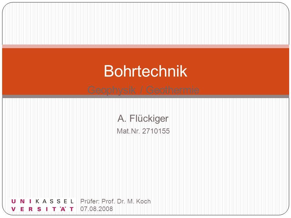 Geophysik / Geothermie A. Flückiger Mat.Nr. 2710155