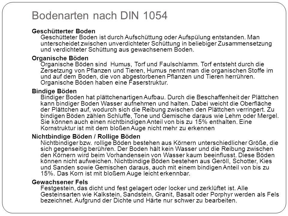 Bodenarten nach DIN 1054
