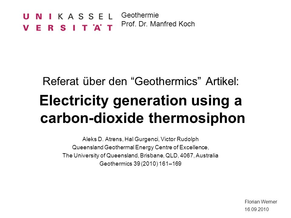 Electricity generation using a carbon-dioxide thermosiphon