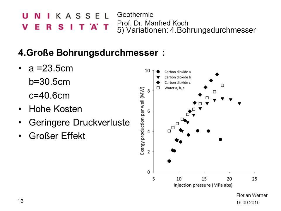 4.Große Bohrungsdurchmesser : a =23.5cm b=30.5cm c=40.6cm Hohe Kosten
