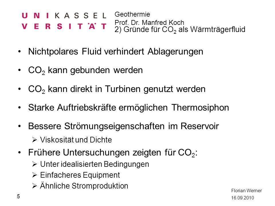 Nichtpolares Fluid verhindert Ablagerungen CO2 kann gebunden werden